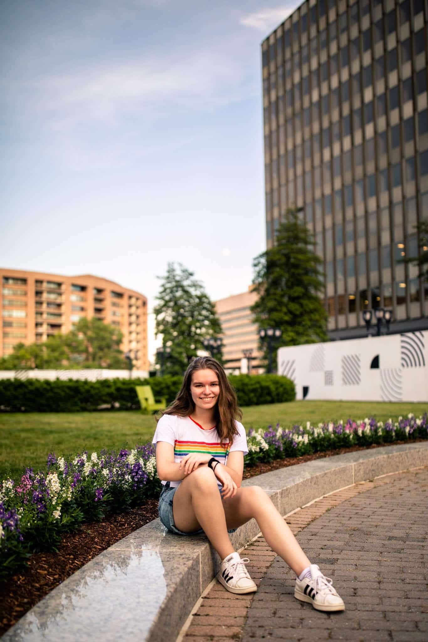 high school senior girl in arlington va
